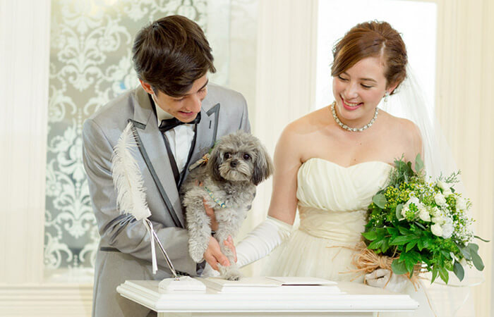 【WEDDING with PET♪】見学日から愛犬と一緒